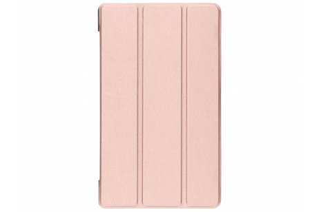 Lenovo Tab 4 8 inch Plus hoesje - Rosé Gouden Stand Tablet