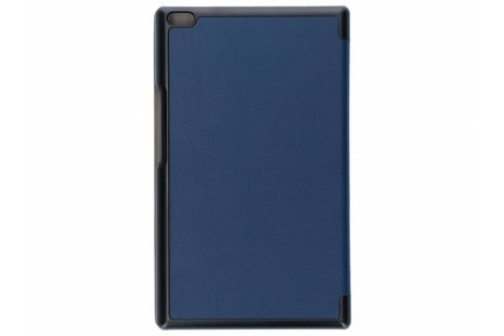 Lenovo Tab 4 8 inch Plus hoesje - Donkerblauwe Stand Tablet Cover