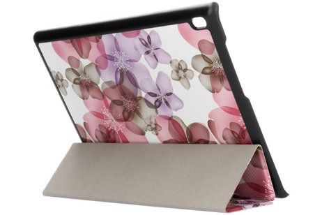 Lenovo Tab 4 10 inch hoesje - Driekleurig bloemen design tablethoes