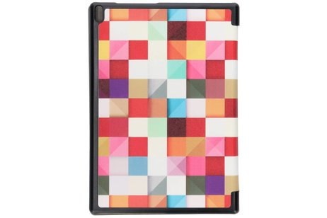 Lenovo Tab 4 10 inch Plus hoesje - Kleurtjes design tablethoes voor