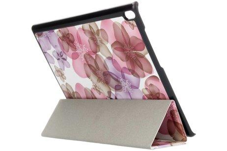 Lenovo Tab 4 10 inch Plus hoesje - Driekleurig bloemen design tablethoes