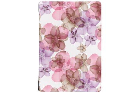 Asus ZenPad 10 Z300M hoesje - Driekleurig bloemen design tablethoes