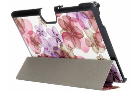 Acer Iconia Tab 10 A3-A40 hoesje - Driekleurig bloemen design tablethoes