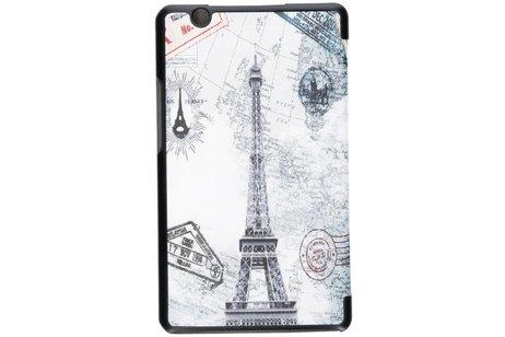 Huawei Mediapad M3 8.4 inch hoesje - Parijs design tablethoes voor