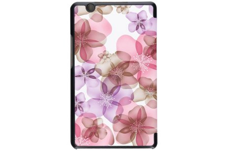 Huawei Mediapad M3 8.4 inch hoesje - Driekleurig bloemen design tablethoes