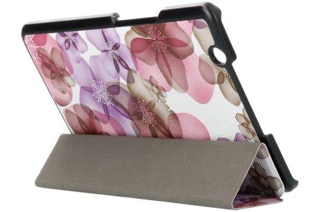 Huawei MediaPad M3 hoesje - Driekleurig bloemen design tablethoes