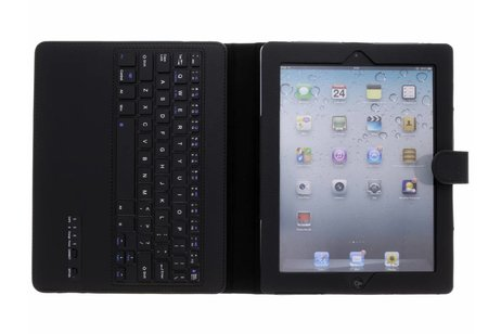 Bluetooth Keyboard Bookcase voor iPad 2 / 3 / 4 - Zwart