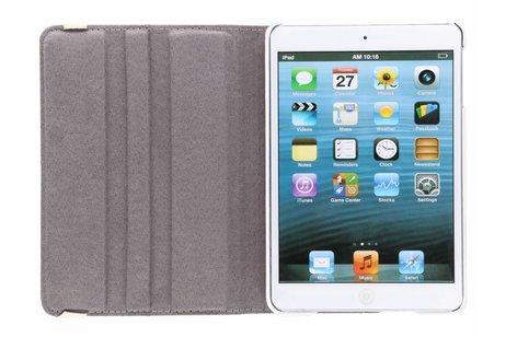 360° draaibare bloemen design tablethoes voor de iPad Mini / 2 / 3