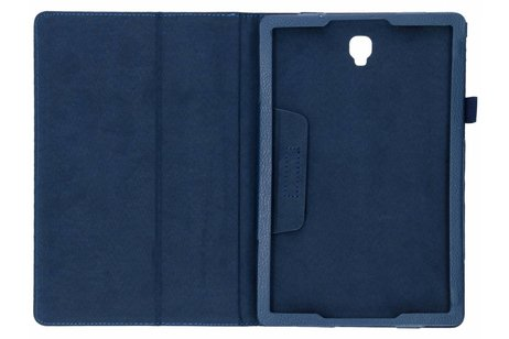 Samsung Galaxy Tab S4 10.5 hoesje - Blauwe effen tablethoes voor
