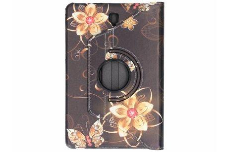 Samsung Galaxy Tab S4 10.5 hoesje - 360° draaibare vlinders design