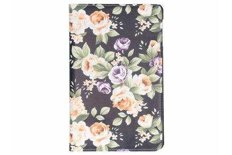 Samsung Galaxy Tab A 10.5 (2018) hoesje - 360° draaibare bloemen design
