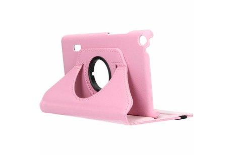 Huawei MediaPad T3 7 inch hoesje - Roze 360° draaibare tablethoes