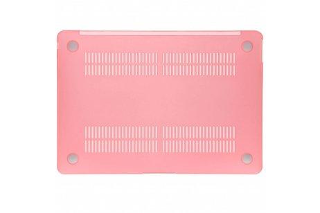 MacBook Air 13.3 inch (2018) hoesje - Roze transparante hardshell voor