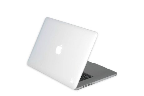MacBook Air 13.3 inch hoesje - Gecko Covers Witte Clip
