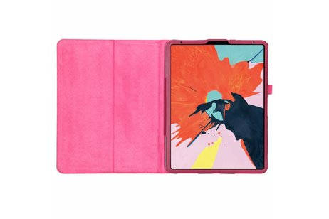 iPad Pro 12.9 (2018) hoesje - Fuchsia effen tablethoes voor