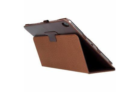 iPad Pro 12.9 (2018) hoesje - Bruine effen tablethoes voor