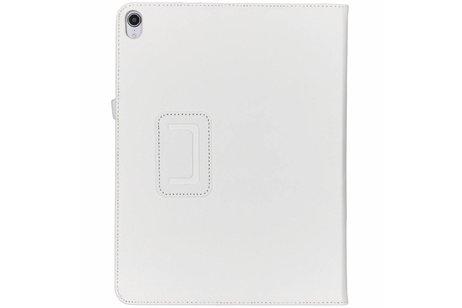 iPad Pro 12.9 (2018) hoesje - Witte effen tablethoes voor