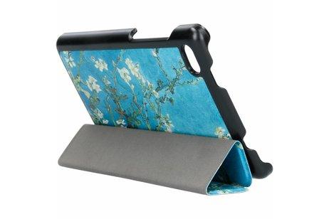 Lenovo Tab E7 hoesje - Groen Takken Design Stand
