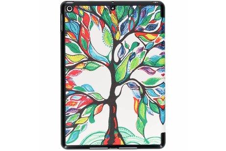 Gekleurde boom design tablethoes voor de iPad (2018) / (2017)
