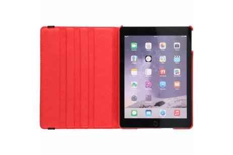 360° Draaibare Bookcase voor iPad (2017) / (2018) - Rood