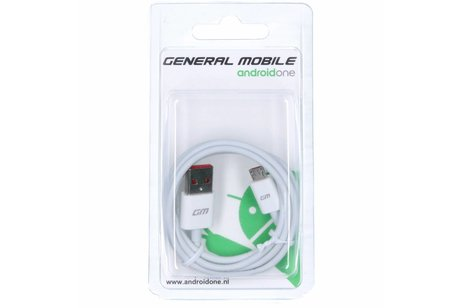General Mobile Micro-USB naar USB kabel 0,95 meter - Wit