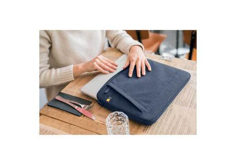 MacBook Air 11 inch hoesje - Case Logic Blauwe Huxton