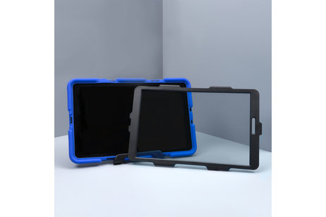 Extreme Protection Army Backcover voor iPad (2017) / (2018) - Blauw