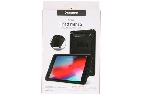 Spigen Tough Armor Tech Backcover voor de iPad mini (2019) / iPad Mini 4 - Zwart