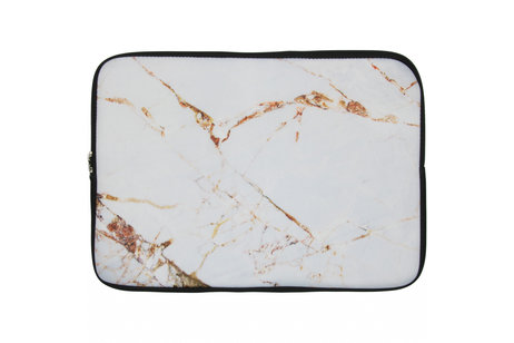 Universele Design Sleeve 15 inch - Marmer White