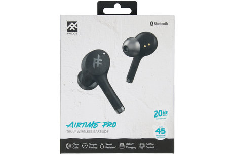 iFrogz AirTime Pro Wireless Earbuds met oplaadcase - Zwart