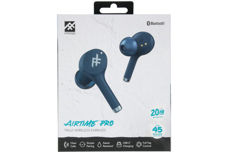 iFrogz AirTime Pro Wireless Earbuds met oplaadcase - Blauw