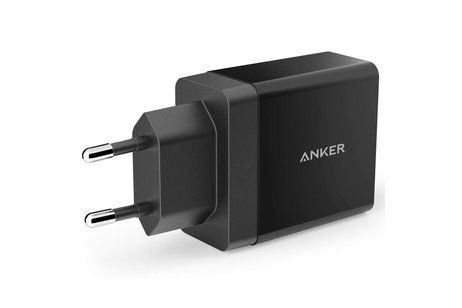 Anker 2-Port USB Charger - 24 Watt - Zwart