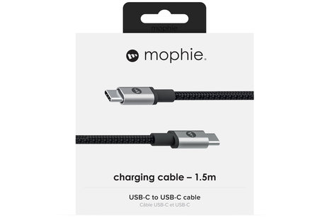 Mophie USB-C naar USB-C kabel - 1,5 meter - Zwart