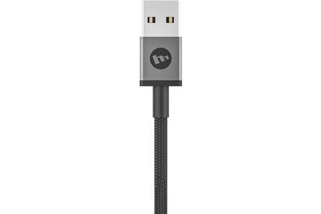 Mophie Micro-USB naar USB kabel met USB-C en Lightning connector - 1 meter - Zwart