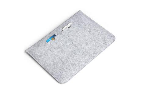 Vilten Soft Sleeve voor de 11-12 inch - Lichtgrijs