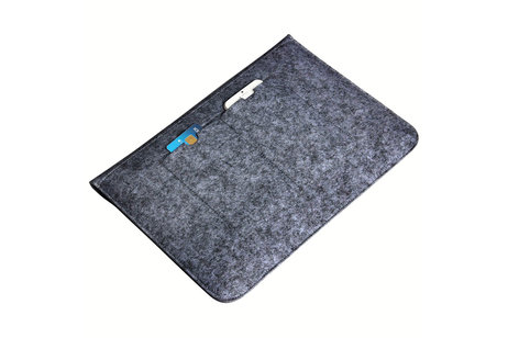 Vilten Soft Sleeve voor de 11-12 inch - Donkergrijs
