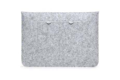 Vilten Soft Sleeve voor de 13 inch - Lichtgrijs