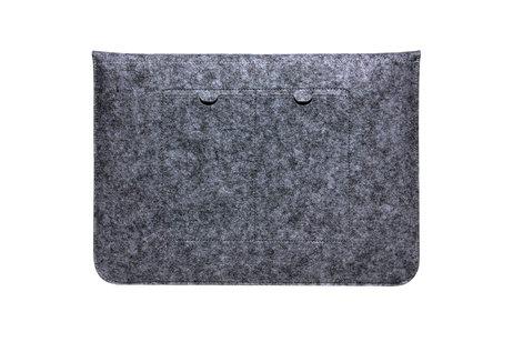 Vilten Soft Sleeve voor de 15 inch - Donkergrijs