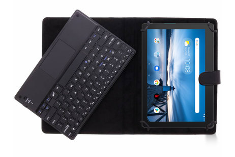 Bluetooth Keyboard Case voor de Lenovo Tab E10 - Zwart