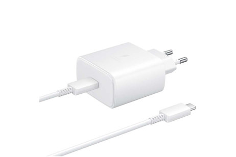 Samsung Super Fast Charging Travel Adapter + USB-C naar USB-C kabel - Wit