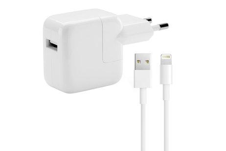 Apple Adapter 2,4A + Orginele Lightning naar USB kabel - 1 meter - Wit