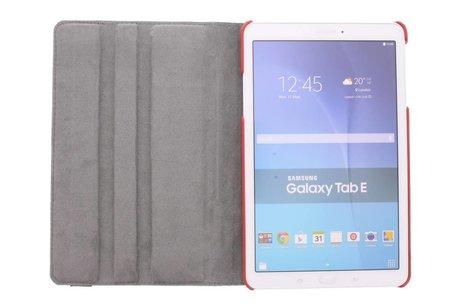 Samsung Galaxy Tab E 9.6 hoesje - 360° Draaibare Design Bookcase