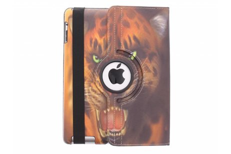 360° Draaibare Design Bookcase voor iPad 2 / 3 / 4 - Tijger
