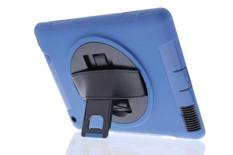 Defender Backcover met strap voor iPad 2 / 3 / 4 - Blauw