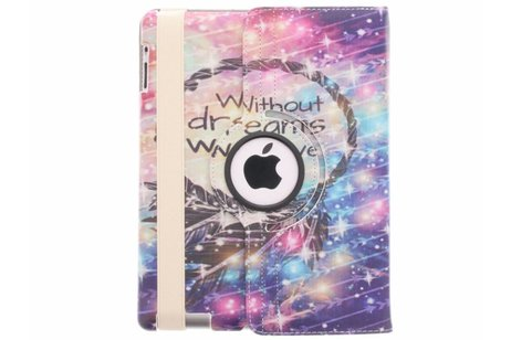 360° Draaibare Design Bookcase voor iPad 2 / 3 / 4 - Without Dreams