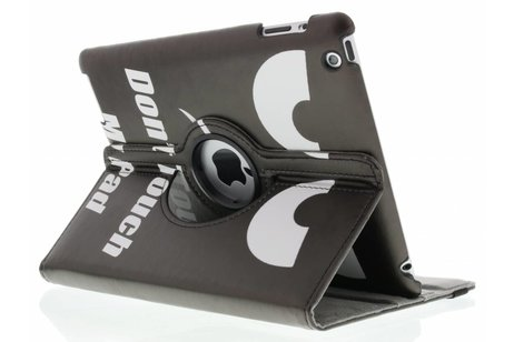 360° Draaibare Design Bookcase voor iPad 2 / 3 / 4 - Don't Touch