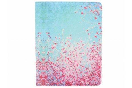 360° Draaibare Design Bookcase voor iPad 2 / 3 / 4 - Roze Bloesem