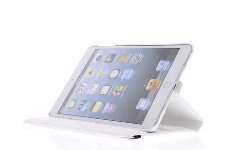 360° Draaibare krokodil Bookcase voor iPad Mini / 2 / 3 - Wit