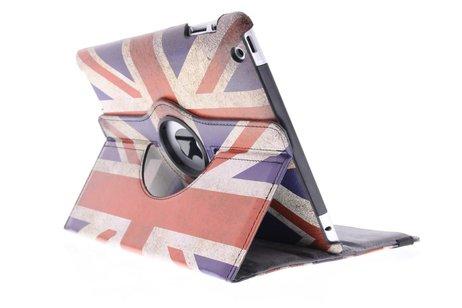 360° Draaibare Design Bookcase voor iPad 2 / 3 / 4 - Britse Vlag
