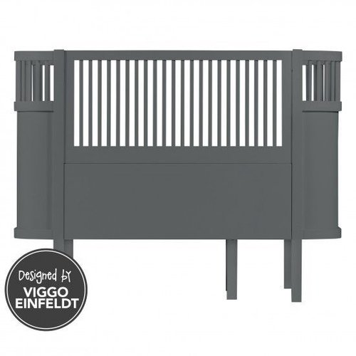 Sebra Sebra bed dark grey wood